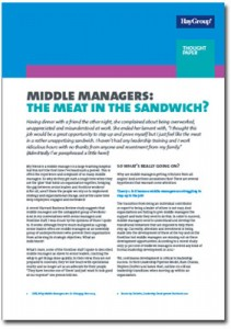 Middle Managers: Meat in the Sandwich?